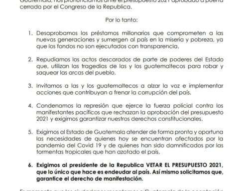 Parlamento Xinka denuncia la corrupción del Estado de Guatemala y el presupuesto 2021