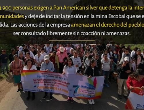 Miles exigen a Pan American Silver que respete los derechos del Pueblo Xinka y deja injerencia en comunidades